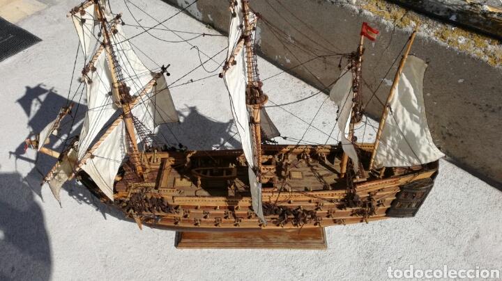 BARCO GALEON ESPAÑOL S XVI J M (Antigüedades - Antigüedades Técnicas - Marinas y Navales)