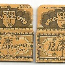 Antigüedades: ANTIGUA HOJA DE AFEITAR ORIGINAL PALMERA ORO Nº 60 JUAN VALLMER Y CIª Nº 120472 DOS UNIDADES. Lote 113257639