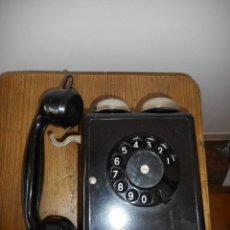 Teléfonos: TELÉFONO DE PARED DE BAQUELITA DE DOBLE CAMPANA. Lote 113278771