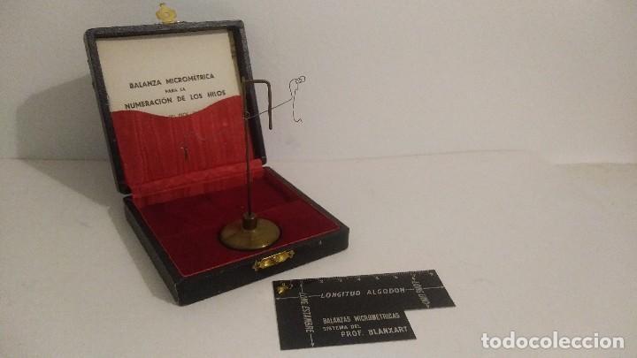 Antigüedades: antigua balanza micrometrica - Foto 5 - 113338223