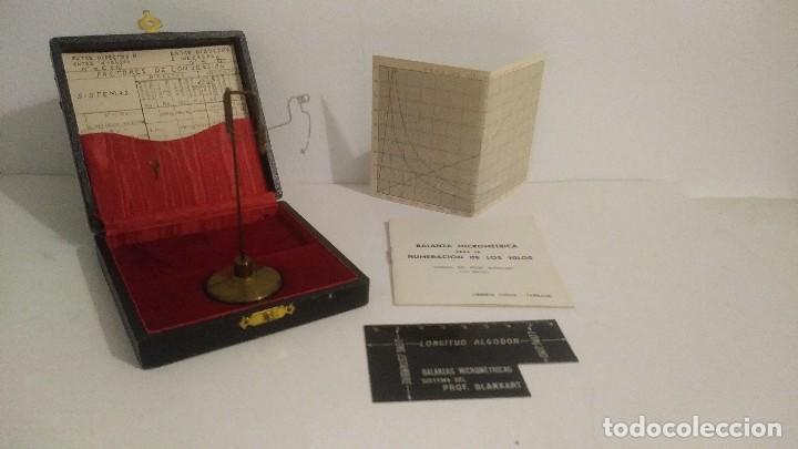 Antigüedades: antigua balanza micrometrica - Foto 6 - 113338223