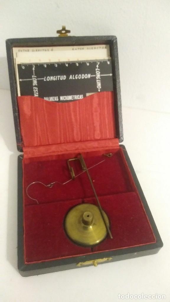Antigüedades: antigua balanza micrometrica - Foto 11 - 113338223