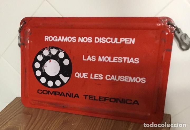 Teléfonos: Cartel o chapa de señalización de trabajos en la red telefónica - Foto 4 - 113375875