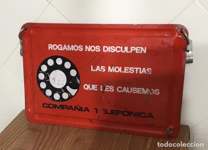 Teléfonos: Cartel o chapa de señalización de trabajos en la red telefónica - Foto 6 - 113375875