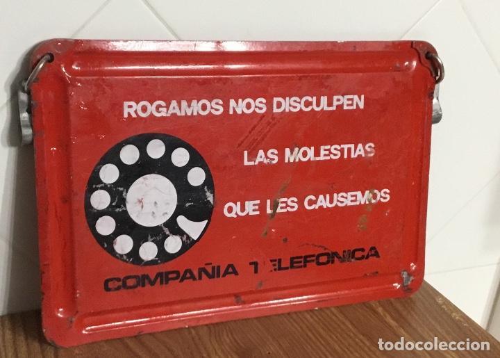 Teléfonos: Cartel o chapa de señalización de trabajos en la red telefónica - Foto 7 - 113375875
