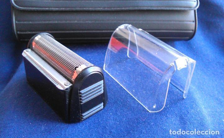 Antigüedades: Máquina de afeitar Braun 5235. Maquinilla electrónica antigua, de los años 80, con estuche. - Foto 5 - 113379863