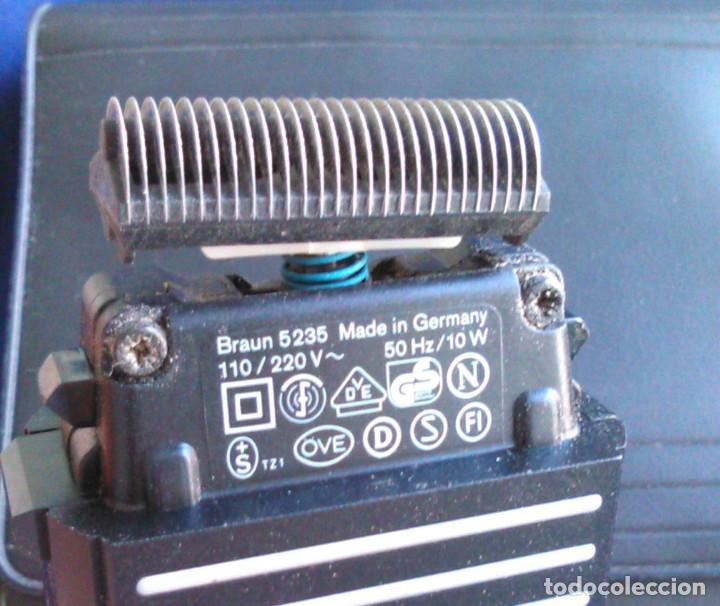 Antigüedades: Máquina de afeitar Braun 5235. Maquinilla electrónica antigua, de los años 80, con estuche. - Foto 6 - 113379863