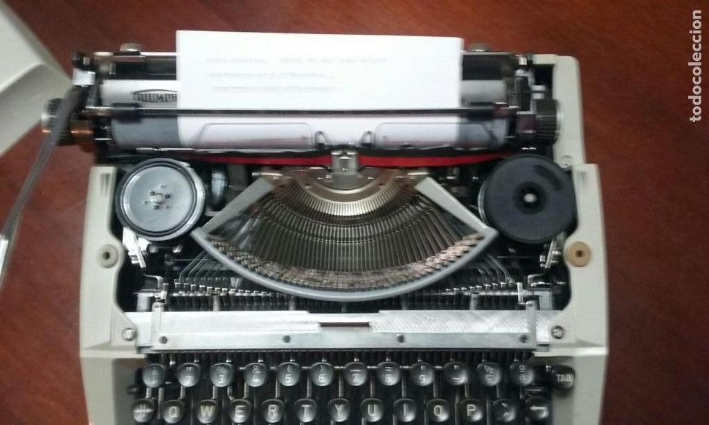 Antigüedades: Antigua maquina de escribir Triumph Contessa de Luxe Años 70. - Foto 5 - 113410527