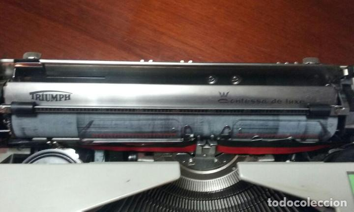 Antigüedades: Antigua maquina de escribir Triumph Contessa de Luxe Años 70. - Foto 11 - 113410527