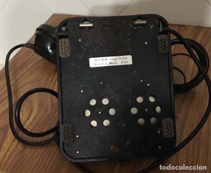 Teléfonos: Antiguo teléfono de baquelita austriaco, tipo centralita, en perfecto estado de conservación. - Foto 2 - 113442599