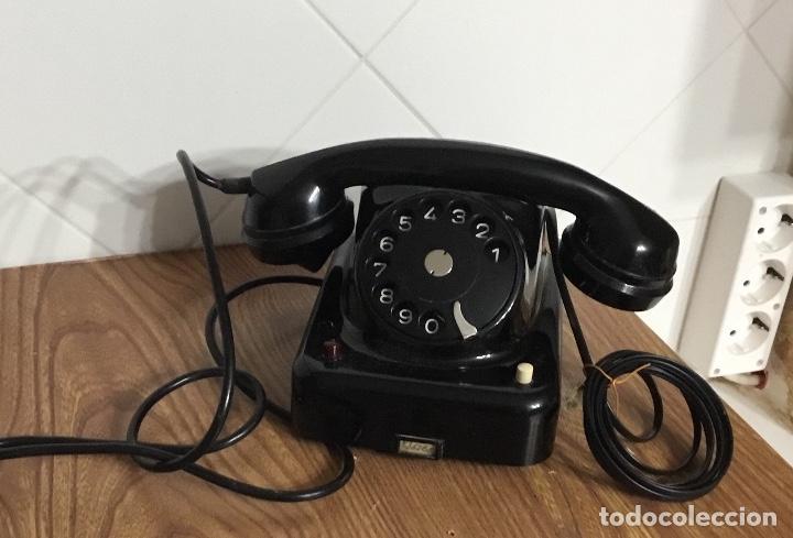 Teléfonos: Antiguo teléfono de baquelita austriaco, tipo centralita, en perfecto estado de conservación. - Foto 3 - 113442599