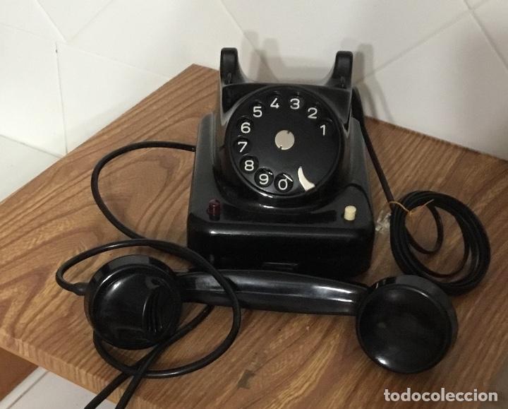 Teléfonos: Antiguo teléfono de baquelita austriaco, tipo centralita, en perfecto estado de conservación. - Foto 4 - 113442599