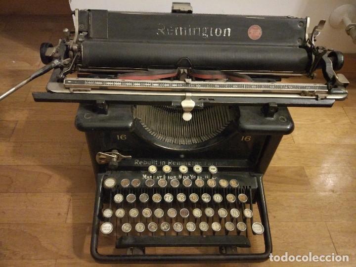 MÁQUINA DE ESCRIBIR REMINGTON MODELO N°16 DE 1936. (Antigüedades - Técnicas - Máquinas de Escribir Antiguas - Remington)