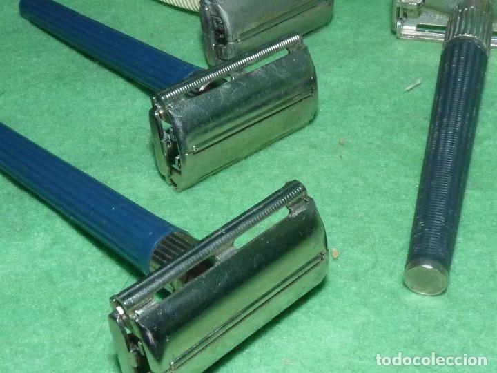 Antigüedades: Raro lote maquinilla afeitar Gillette Slim twist Nack G1000 original colección barba barbero - Foto 13 - 87677508