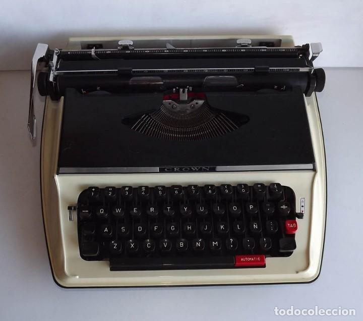 Antigüedades: Máquina de Escribir Crown Portable con maletín - Foto 2 - 54472581