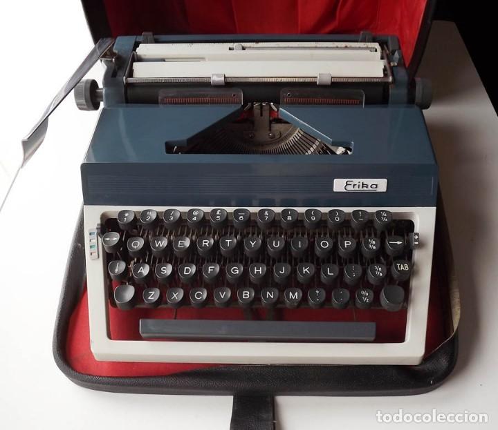 Antigüedades: Máquina de escribir Erika con maletin - Foto 2 - 55235117