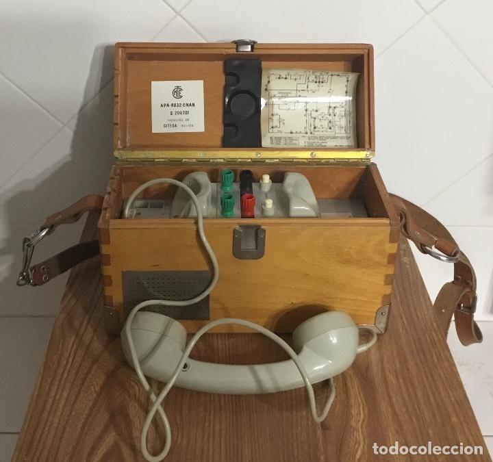 ANTIGUO TELÉFONO ESPAÑOL DE CAMPAÑA EXCELENTEMENTE CONSERVADO, DE CITESA, PARA LA CTNE. (Antigüedades - Técnicas - Teléfonos Antiguos)