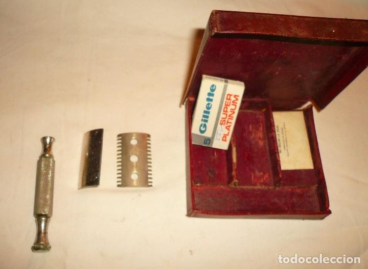 Antigüedades: MAQUINILLA AFEITAR Y MAQUINA PARA AFILAR HOJAS DE AFEITAR - Foto 8 - 46505043