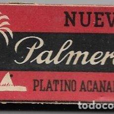 Antigüedades: == H06 - CUCHILLAS NUEVA PALMERA PLATINO ACANALADA - ESTUCHE CON 10 CUCHILLAS. Lote 114009707
