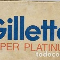 Antigüedades: == H10 - CUCHILLAS DE AFEITAR GILLETTE SUPER PLATINUM - ESTUCHE CON 3 CUCHILLAS. Lote 114010679