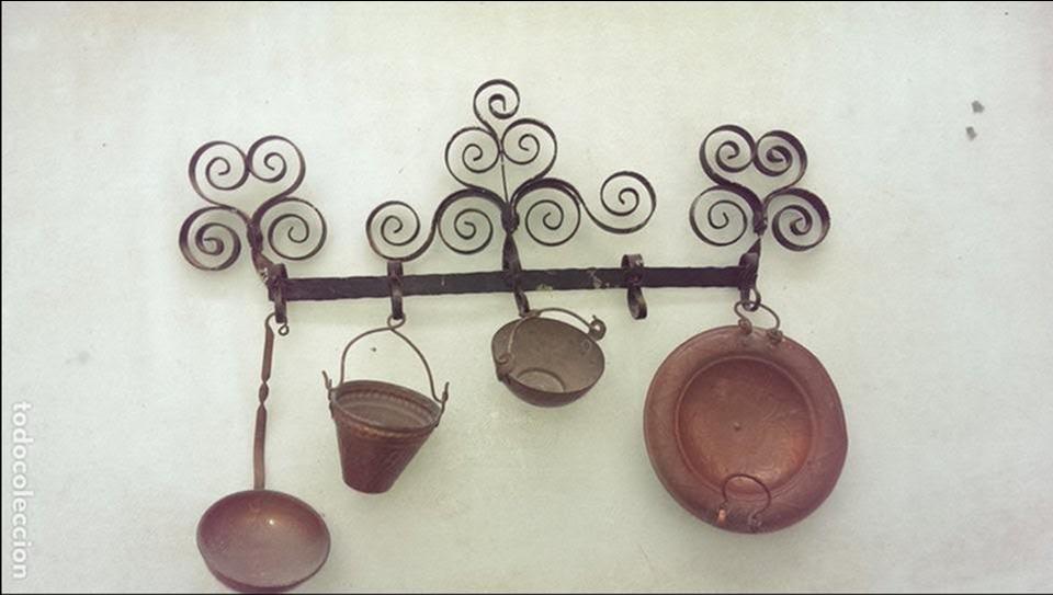 colgante pared utensilios cocina hierro y utile - Comprar Objetos ...