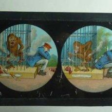 Antigüedades: CRISTAL DE LINTERNA MAGICA. Lote 114103415