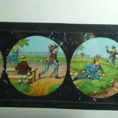 Antigüedades: CRISTAL DE LINTERNA MAGICA. Lote 114103563