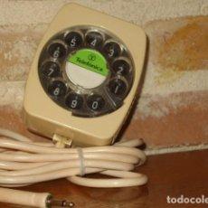 Teléfonos: DISCO MARCADOR ANALOGICO TELEFONO DE PRUEBAS,TELEFONICA. COLOR BEIG. Lote 114109099