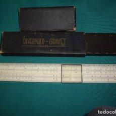 Antigüedades: REGLA DE CALCULO - TAVERNIER GRAVET - PARIS. Lote 114212535