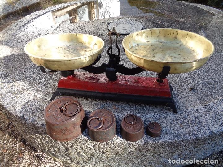 BALANZA O BASCULA SIGLO XIX FUNCIONANDO (Antigüedades - Técnicas - Medidas de Peso - Básculas Antiguas)