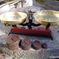 Antigüedades: BALANZA O BASCULA SIGLO XIX FUNCIONANDO. Lote 114239691