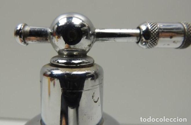 Antigüedades: Frasco anestesia. Instrumental dentista. Cromado. Vintage. - Foto 5 - 114249847
