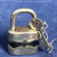 Antigüedades: CANDADO FRANCIA N 35 MADE IN FRANCE NEGRO NIKELADO LLAVE 5X1,5CMS. Lote 114298055