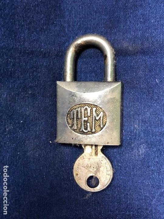 CANDADO TEM MADE IN SPAIN 8441 6,5X3,5CMS (Antigüedades - Técnicas - Cerrajería y Forja - Candados Antiguos)