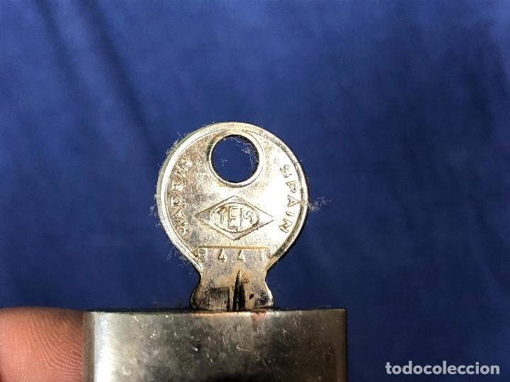 Antigüedades: candado tem made in spain 8441 6,5x3,5cms - Foto 5 - 114298923