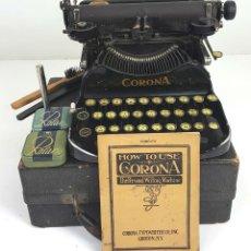 Antigüedades: MAQUINA DE ESCRIBIR PORTÁTIL CORONA TYPEWRITER COMPANY. USA. 1917. . Lote 114350515