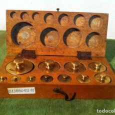 Antigüedades: FANTASTICO JUEGO DE 11 PESAS DE BRONCE DE 1G A 200G DEL AÑO 1922 (B13). Lote 114405519
