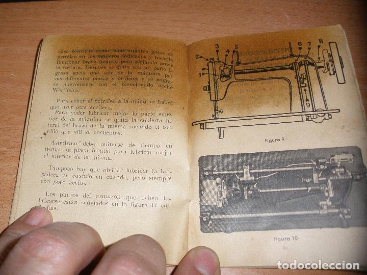 Antigüedades: INSTRUCCIONES PARA LA MAQUINA DE COSER WERTHEIM R.B.C. 43 - 36 PAGINAS - Foto 3 - 114432163