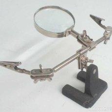 Antigüedades: LUPA CON PINZAS. Lote 114434283
