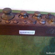 Antigüedades: SINGULAR JUEGO DE 11 ANTIGUAS PESAS AUSTRIACAS DE 1G A 20DKG (200G) (J07). Lote 114447815