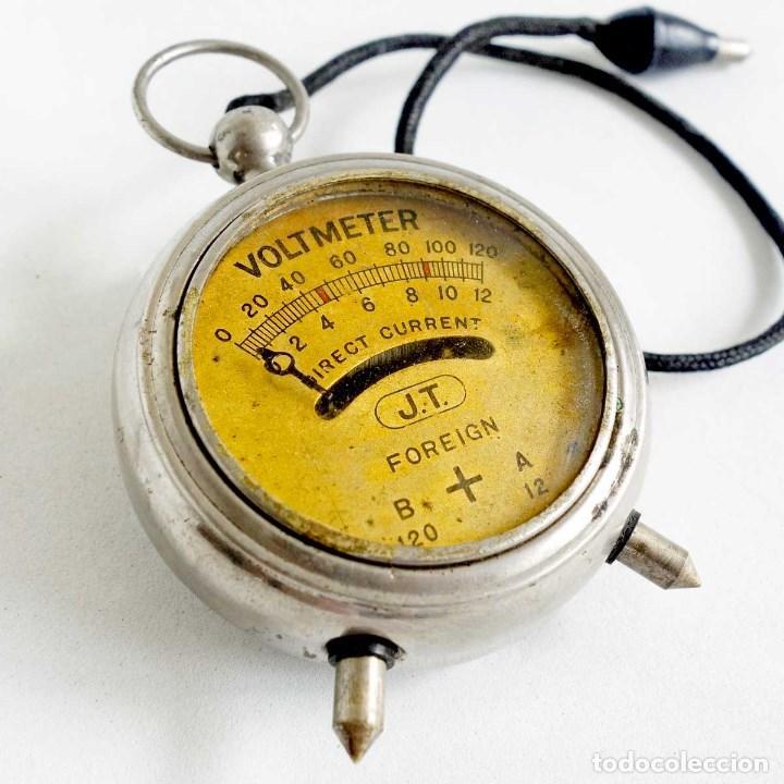 VOLTÍMETRO 1920 JT DE BOLSILLO. FUNCIONA (Antigüedades - Técnicas - Herramientas Profesionales - Electricidad)