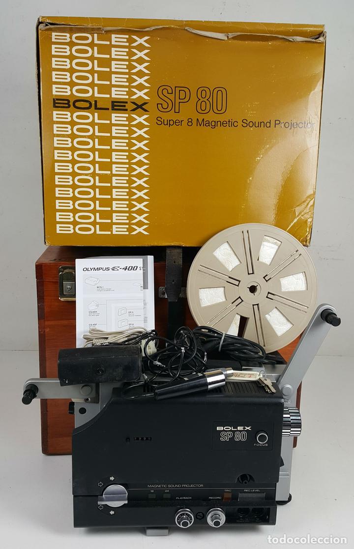 PROYECTOR DE CINE SONORO EN ESTEREO. BOLEX SP-80. CAJA ORIGINAL. 1974. (Antigüedades - Técnicas - Aparatos de Cine Antiguo - Proyectores Antiguos)