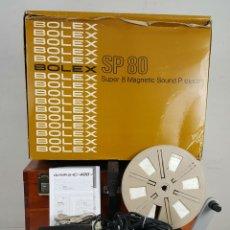 Antigüedades: PROYECTOR DE CINE SONORO EN ESTEREO. BOLEX SP-80. CAJA ORIGINAL. 1974. . Lote 114529111