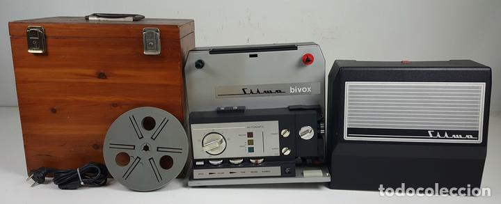 PROYECTOR SUPER 8. SILMA MODELO BIVOX. CAJA DE MADERA. CIRCA 1970. (Antigüedades - Técnicas - Aparatos de Cine Antiguo - Proyectores Antiguos)