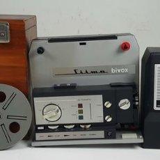 Antigüedades: PROYECTOR SUPER 8. SILMA MODELO BIVOX. CAJA DE MADERA. CIRCA 1970. . Lote 114536735