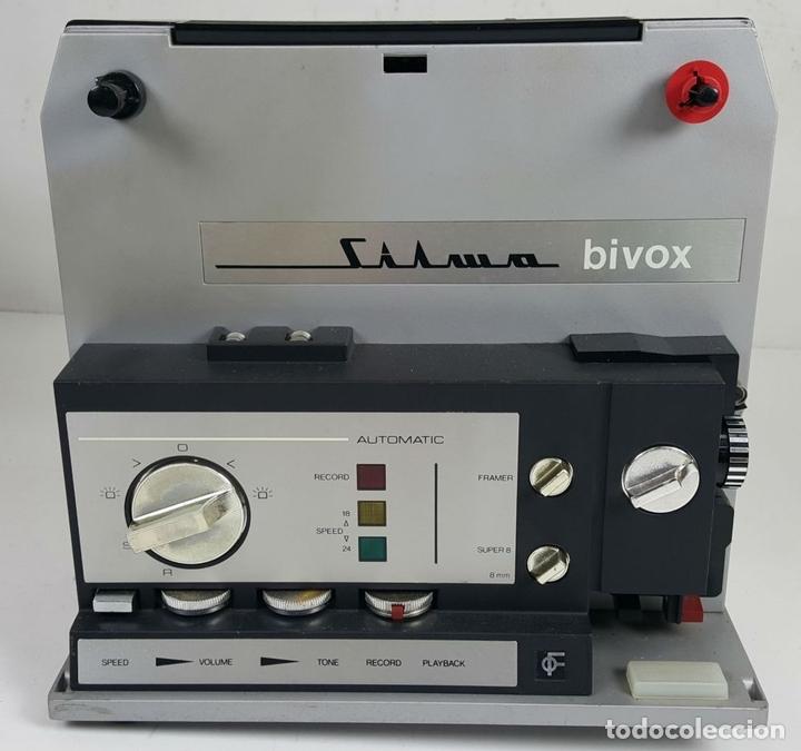 Antigüedades: PROYECTOR SUPER 8. SILMA MODELO BIVOX. CAJA DE MADERA. CIRCA 1970. - Foto 2 - 114536735