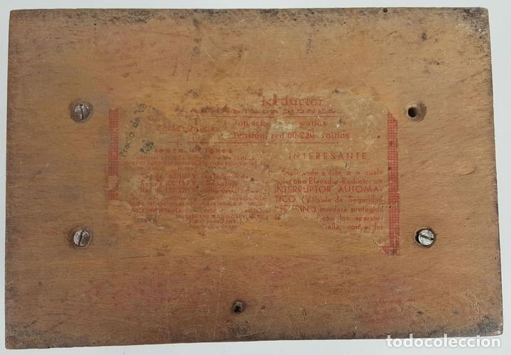Antigüedades: VOLTIMETRO. CAJA DE METAL Y MADERA MARMOLIZADA. CIRCA 1950. - Foto 4 - 114537671