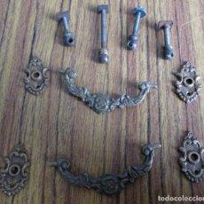 Antigüedades: 2 TIRADORES BRONCE LATÓN . Lote 114657627