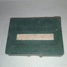 Antigüedades: CAJA CAPSULAS YODO-YODURADAS CUSI. Lote 114670512