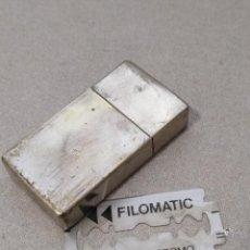 Antigüedades: ANTIGUA CAJA METÁLICA DE CUCHILLAS DE AFEITAR DE LA FIRMA GILLETTE. Lote 114675583